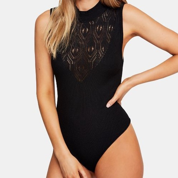 Free People Other - NWT Free People On Point mock neck bodysuit S